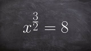 How to solve an equation with fraction powers in your exponent
