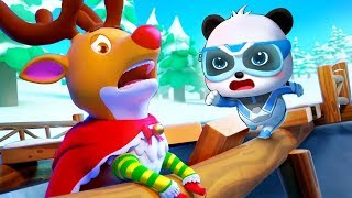Reindeer Rudolph is in Danger | Super Panda Rescue Team 10 | Christmas Movie | Kids Cartoon |BabyBus