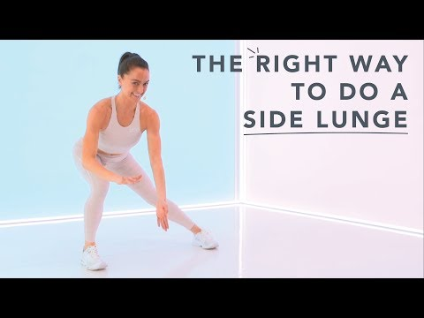 How to do a side lunge correctly, with Megan Roup