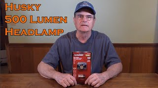 Husky 500 Lumen Spot and Flood LED Headlight Review