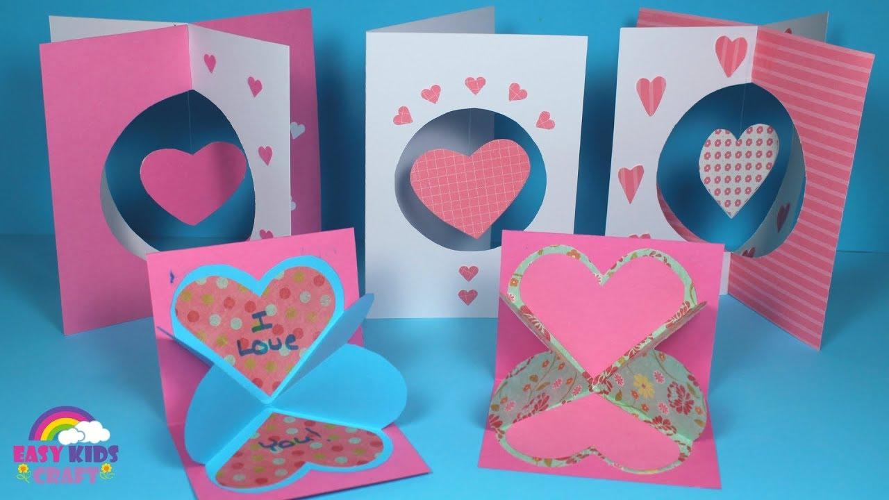 diy pop up valentines day card for kids  preschool home