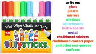 Liquid Chalk Markers Write On glass, plastic, mirrors, windows, whiteboards, bistro boards, metal