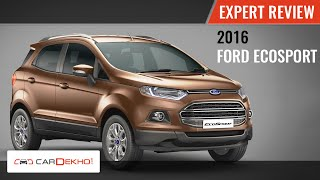 2017 Ford Ecosport Expert Review Cardekho