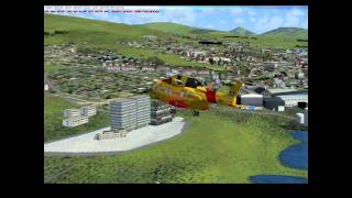 preview picture of video 'Helicopter from Vagar Airport, to radarstation, the capital Tórshavn then Nólsoy'