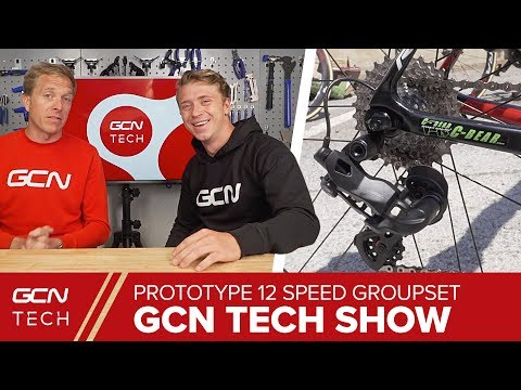 Spotted! NEW Prototype 12 Speed Electronic Groupset   GCN Tech Show Ep. 35