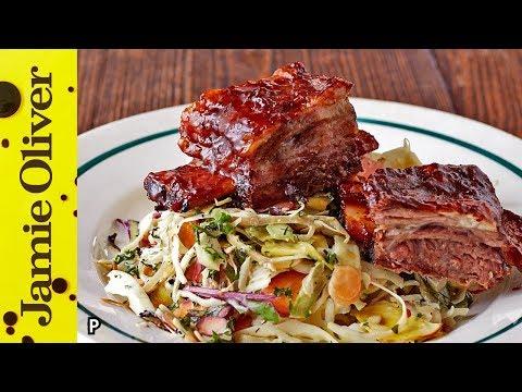 Sticky Beef Ribs & Slaw | Jamie Oliver