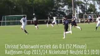 preview picture of video 'Kopie von BFV Raiffeisen-Cup 2013/14 ASV Nickelsdorf gegen ASV Neufeld 0:3 (0:0) - Tore'