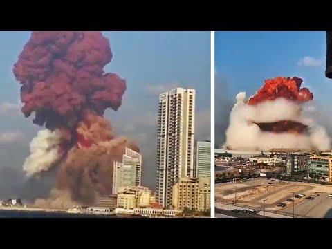 黎巴嫩首都发生强烈爆炸!天空出现蘑菇云,城市被摧毁!
