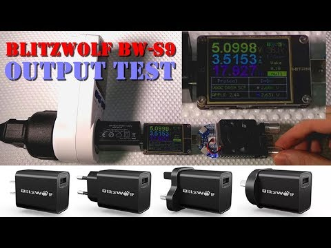 BlitzWolf BW-S9 [new model] Powerful Wall Charger - Output Test