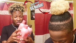 I Washed + Blow Dried My Hair! | BIG ManBun Tutorial