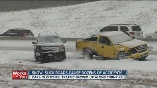 Winter weather causes accidents all over Green Country roads