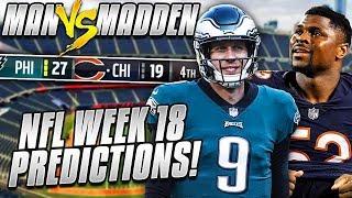Predicting Every NFL Wild Card Winner.... REGULAR SEASON WINNER REVEALED | Man vs Madden 2018