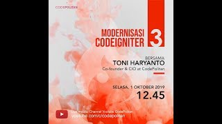 Modernisasi Codeigniter 3