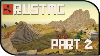 """Rust MC Gameplay Part 2 - """"Meeting Some Friends?"""" (Rust in Minecraft Mod)"""