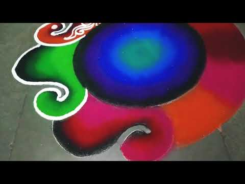colorful navaratri rangoli design by jyoti