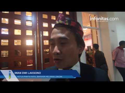 Relawan Jokowi Rayakan Natal Nasional 2018