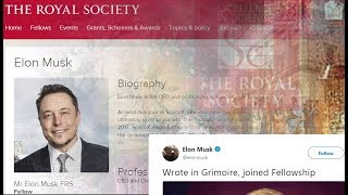 "Elon Musk signs the ""grimoire"", joins Royal Society... | Kholo.pk"