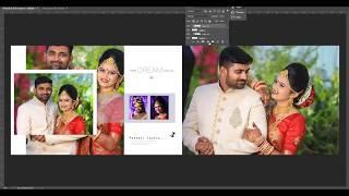 Wedding album design in Photoshop Size 12X36 || Photoshop tutorial ||