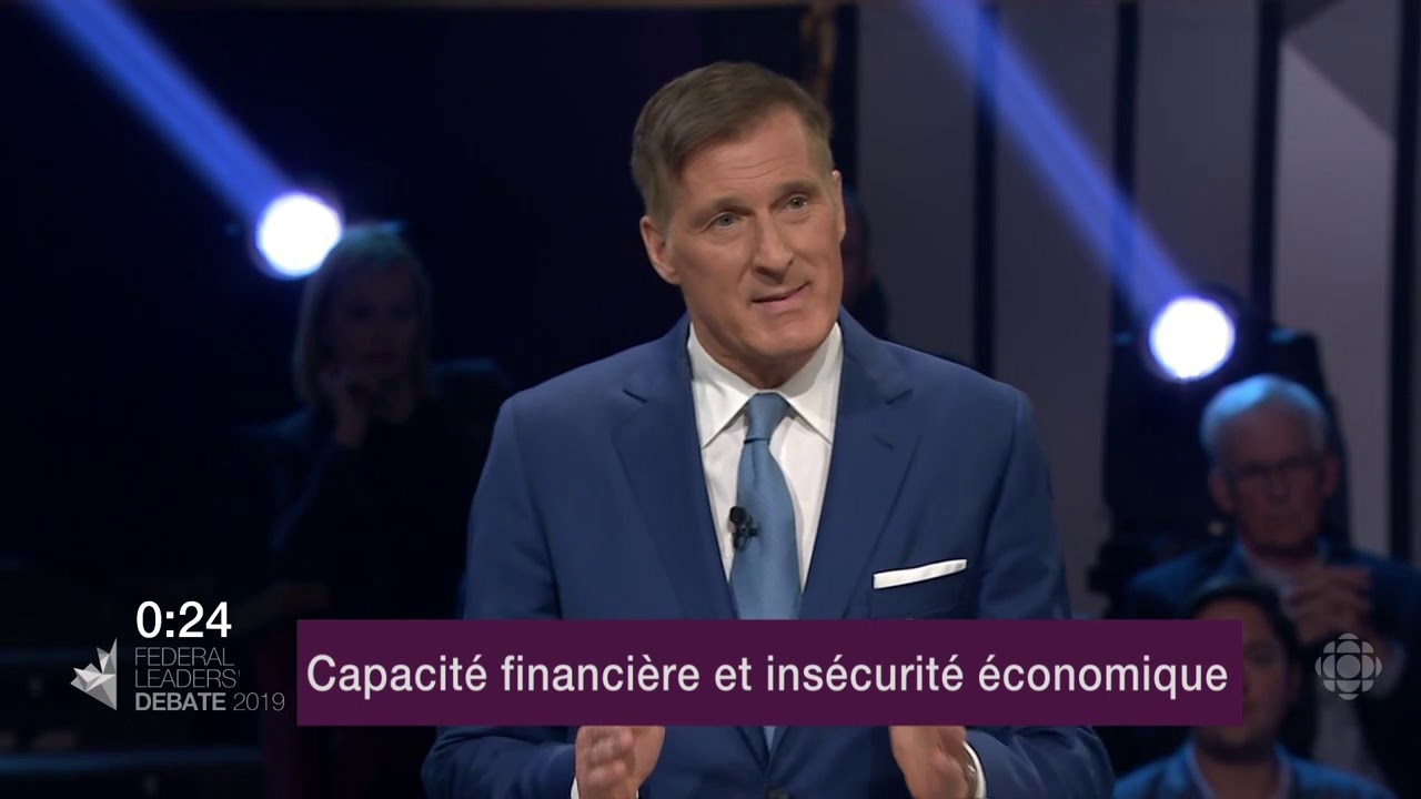 Maxime Bernier répond à une question sur les inégalités de revenu et le coût de la vie