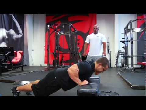 Close Grip Incline Push-up (on bar)