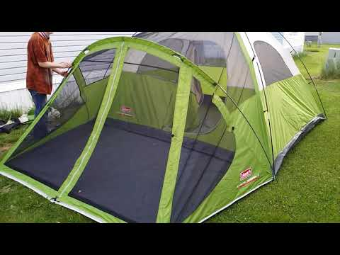 Coleman Evanston 6 Person Tent Review Setup