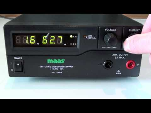 Maas HCS-3600 Power Supply startup test sequence and HD closeups