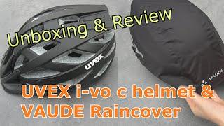 UVEX Bike helmet i-vo cc Fahrradhelm & VAUDE Raincover - UNBOXING & REVIEW
