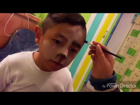 Maquillaje hombre lobo niño