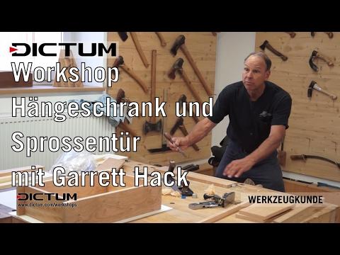 Hängeschrank und Sprossentüre mit Garrett Hack - Premium-Workshop - DICTUM-Kurswerkstatt