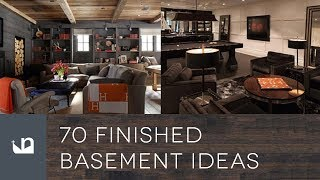 70 Finished Basement Ideas