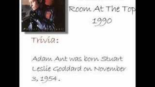 Adam Ant - Room At The Top (w/ trivia)