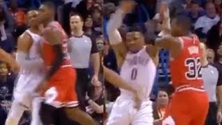 Russell Westbrook PISSED For Getting Shoved In BRAWL With Chicago Bulls