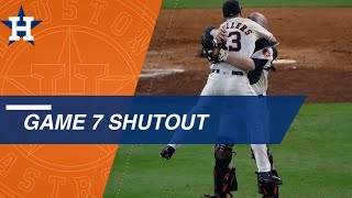 ALCS Gm 7: Astros pitchers shut out Yankees, advance to the World Series