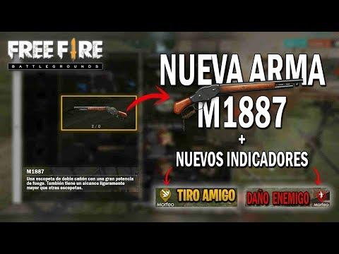 NUEVA ARMA MAS NUEVOS INDICADORES FREE FIRE | Esteban Gonzalez