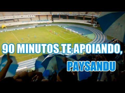 """90 minutos te apoiando, Paysandu."" Barra: Alma Celeste • Club: Paysandu"