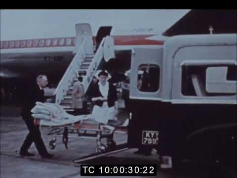Emperor Haile Selassie visits Abebe Bikila in London 1969
