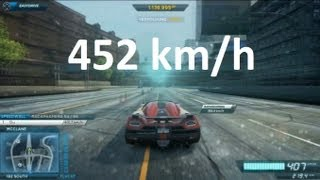 Need For Speed Most Wanted 2 (2012) - Koenigsegg Agera R ( Extra ) - TopSpeed @ 452 kmh / 282,5 mph