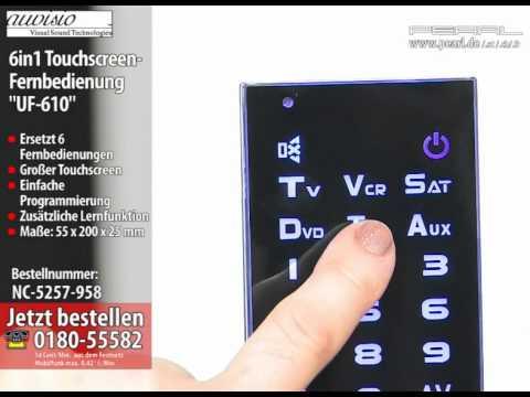 """auvisio 6in1 Touchscreen-Fernbedienung """"UF-610"""""""