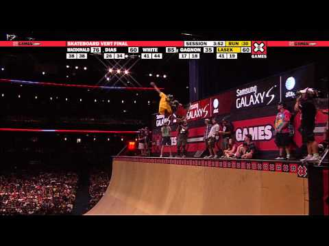 X Games - X Games 16 - Pierre Luc Gagnon nails his run in Skateboard Vert to Win three-peat Gold