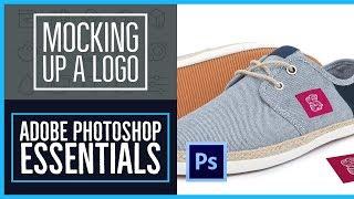 How to bend a logo onto an image realistically - Photoshop CC Essentials [47/86]