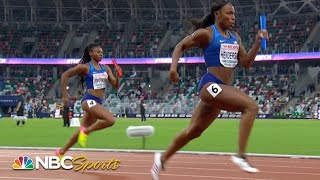 USA women take on Europe in 4x100 meter relay   NBC Sports