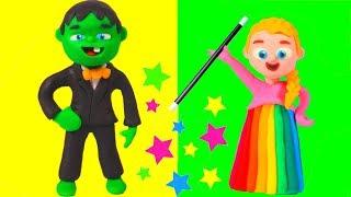 SUPERHERO BABIES DRESS VERY ELEGANT ❤ Superhero Babies Play Doh Cartoons For Kids