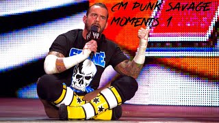 WWE CM Punk savage moments