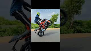 KTM Bike Stunt WhatsApp status😌💥 #shorts #ktm #stunt