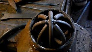 Как  согнуть металл на холодную, делаем кольца Д10мм