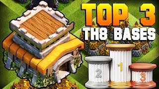Clash of Clans | TOP 3 BEST TH8 Farming Base 2017 | CoC NEW Town Hall 8 Defense Strategy [TH8 2017]