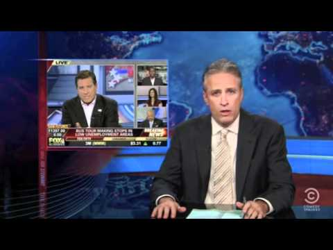 Jon Stewart reacting to Fox News calling Warren Buffet a socialist