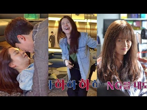 Song Ji Hyo and Park Shi Hoo Hilarious Kissing Scenes On 'Lovely Horribly' Behind The Scene #3