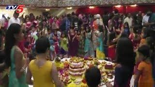Telugu NRI's Bathukamma Celebrations in USA | TV5 News