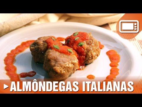 Almôndegas Italianas no Microondas